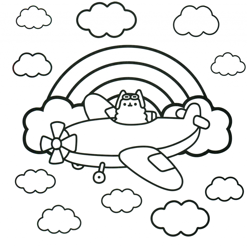 Pusheen Coloring Pages Best Coloring