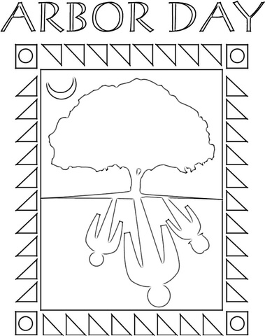 Arbor Day Coloring Page