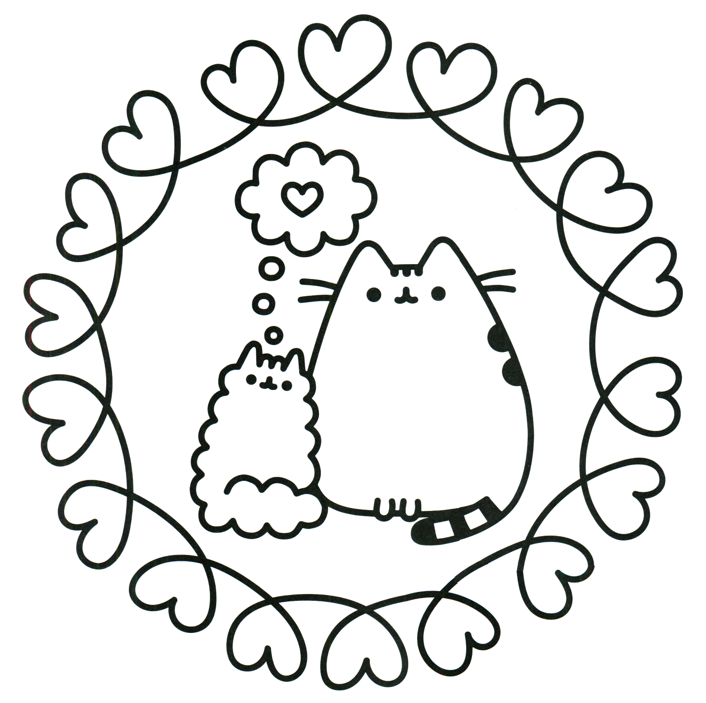 Pusheen coloring pages best coloring pages for kids Coloring book day