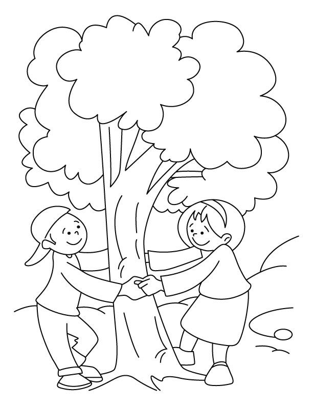 Celebrate Trees Coloring Page