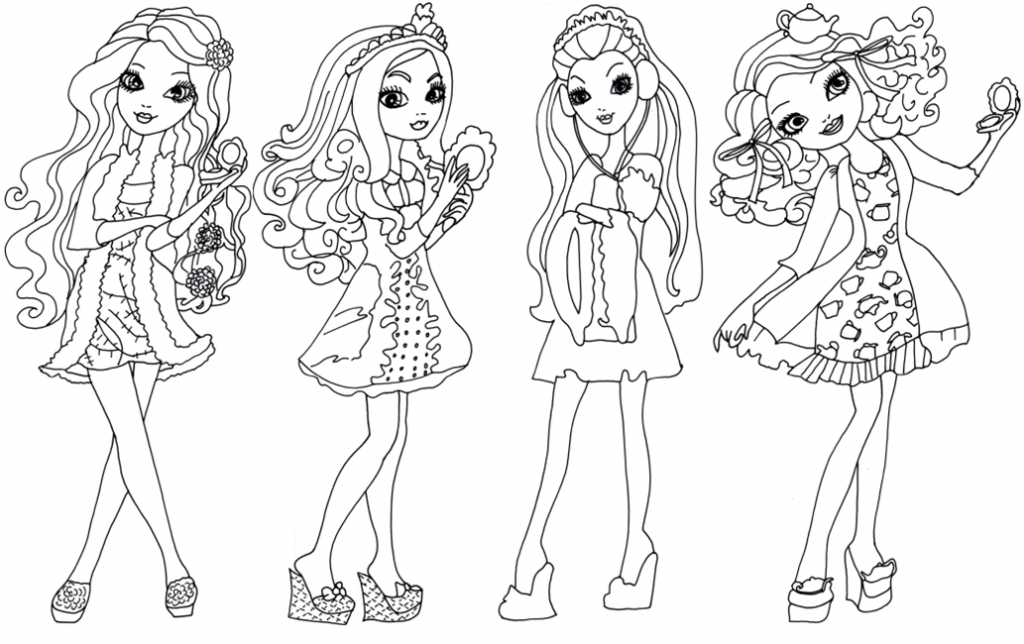 Ever After High Coloring