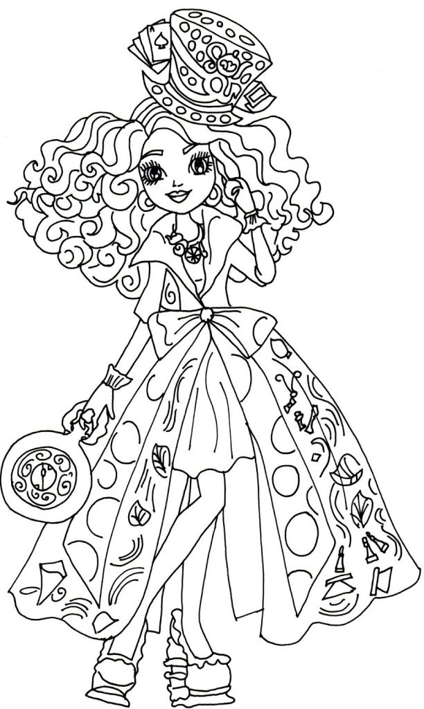 Ever After High Coloring Page Printable