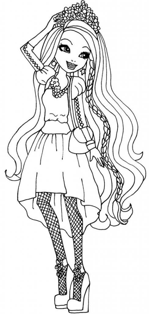 Ever After High Print Free Coloring Pages