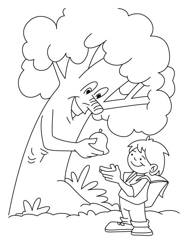 Generous Tree Coloring Page