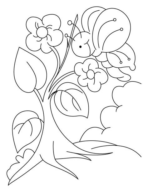Growing Tree Nature Coloring Page