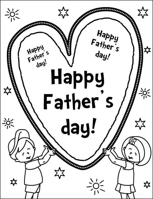 I Love Dad Father Day Coloring Pages