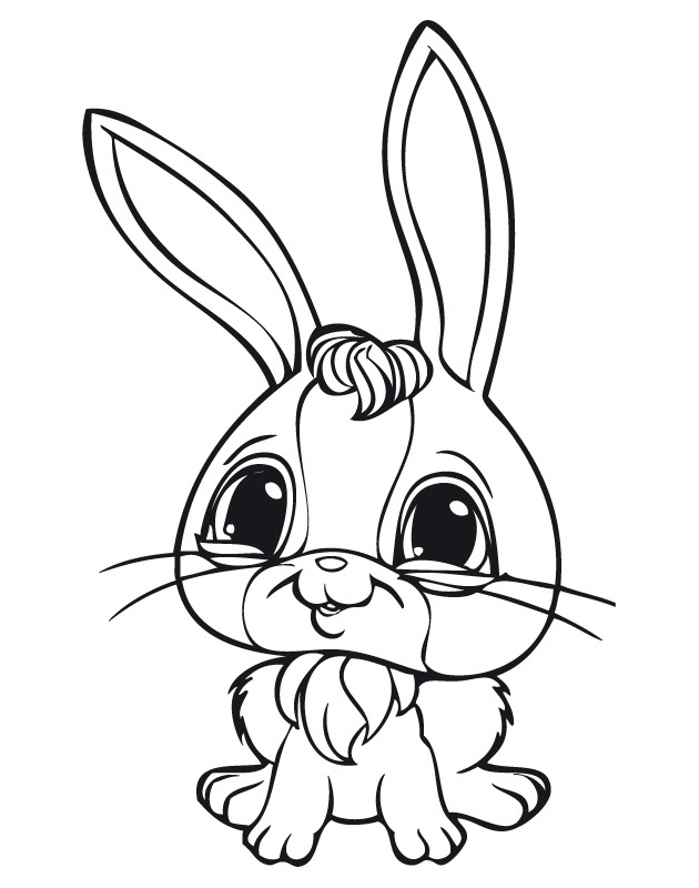 LPS Bunny Coloring Pages