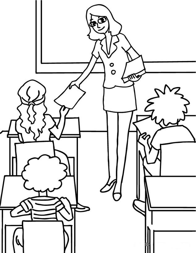 Print Free Teacher Coloring Pages