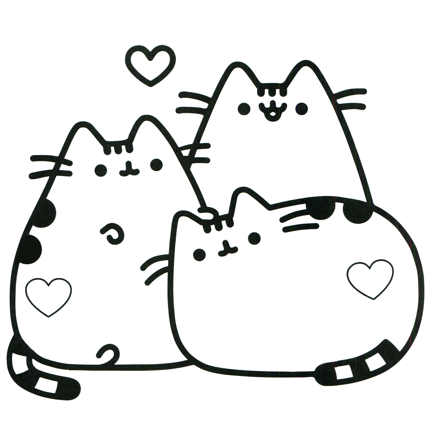 Pusheen coloring pages best coloring pages for kids for Cat color pages