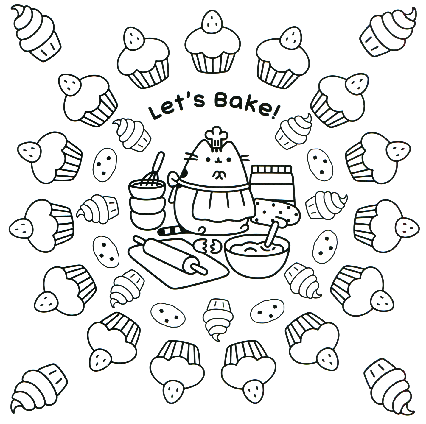 Pusheen coloring pages best coloring pages for kids for Coloring book pages free