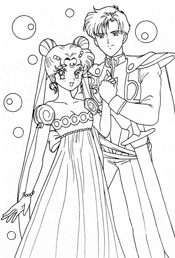 Anime Wedding Coloring Pages