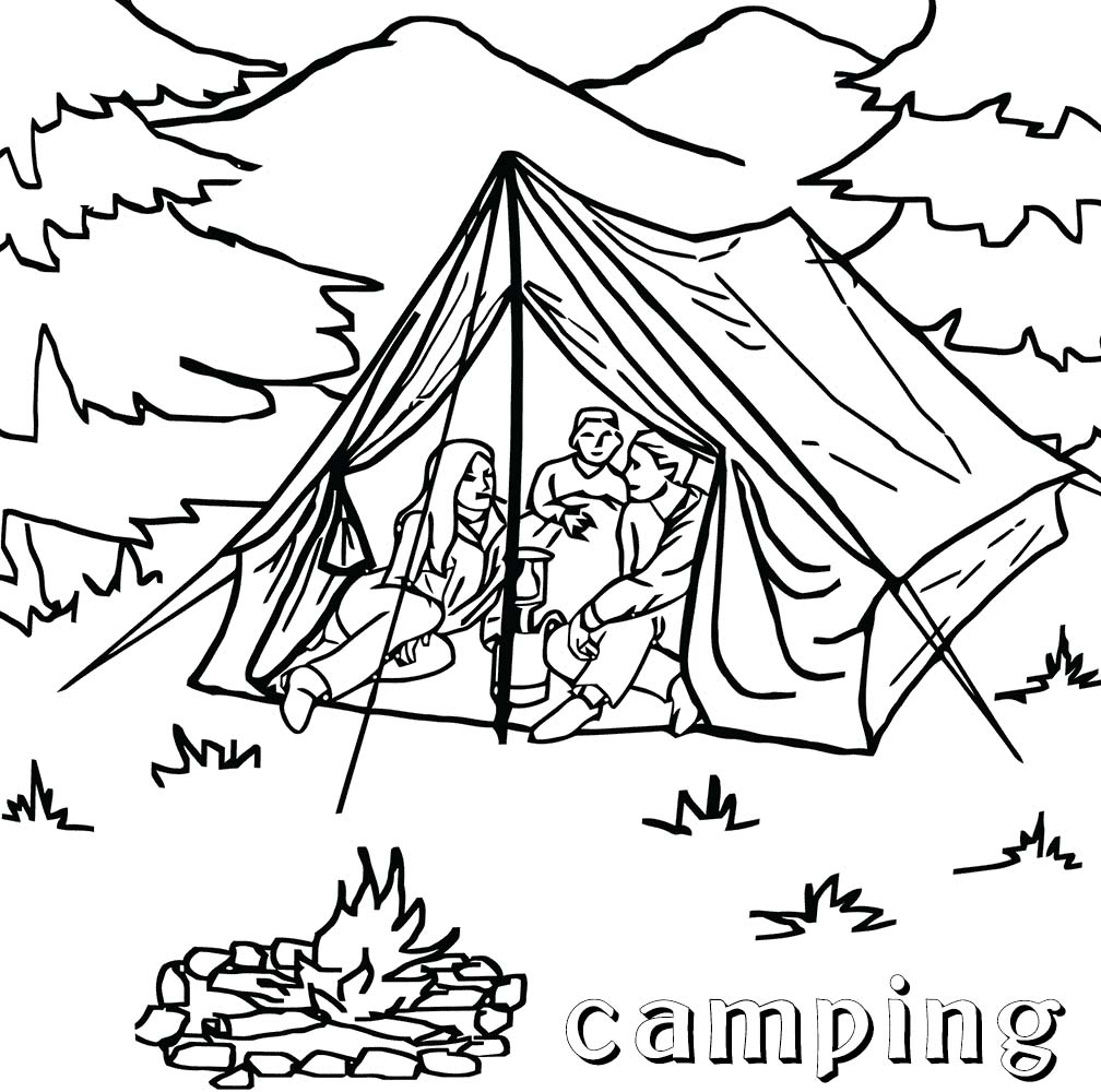 Camping coloring pages best coloring pages for kids for Camping coloring pages for preschoolers