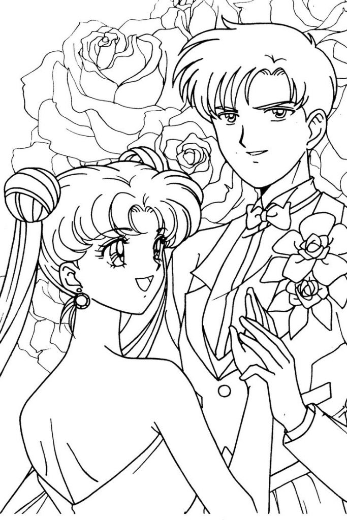 Free Anime Wedding Coloring Pages