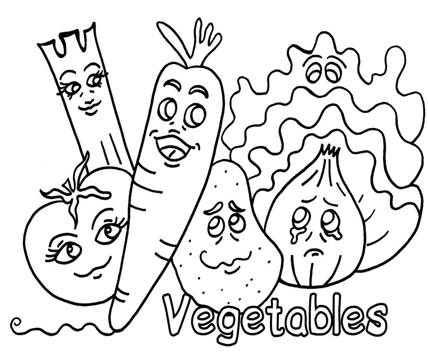 Free Vegetable Coloring Pages
