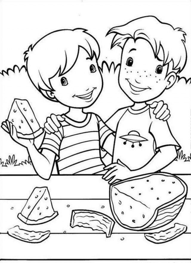 Fun Watermelon Coloring Pages