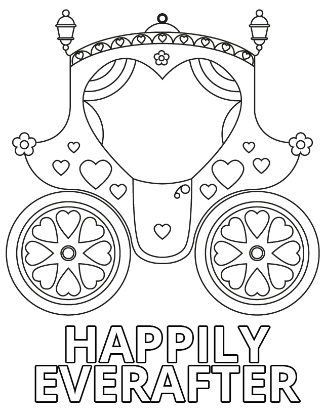 wedding coloring pages free - photo#23