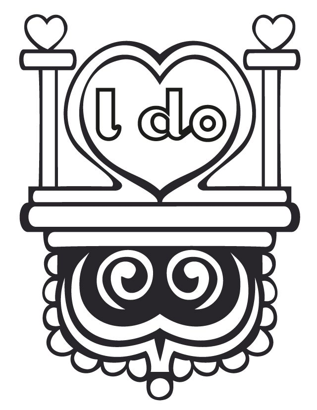 I do - Wedding Coloring Pages