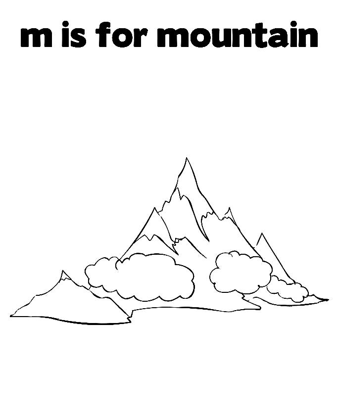 M is for Mountain Printable Sheet