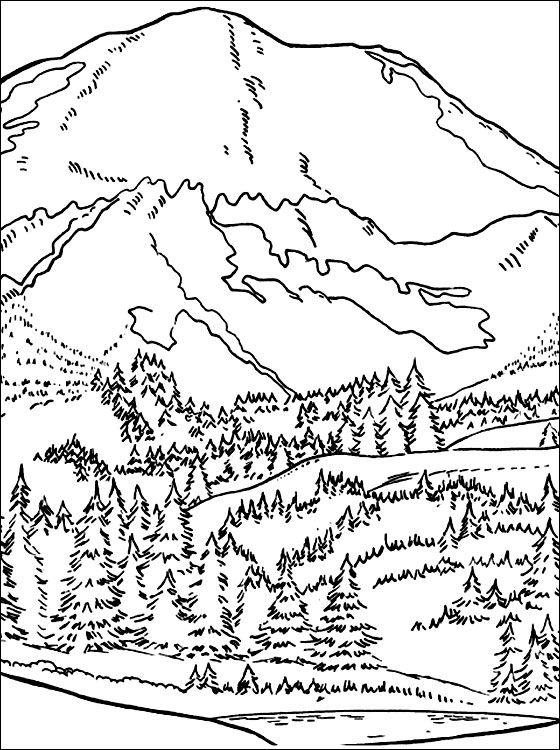 Mountain Range Coloring Printable