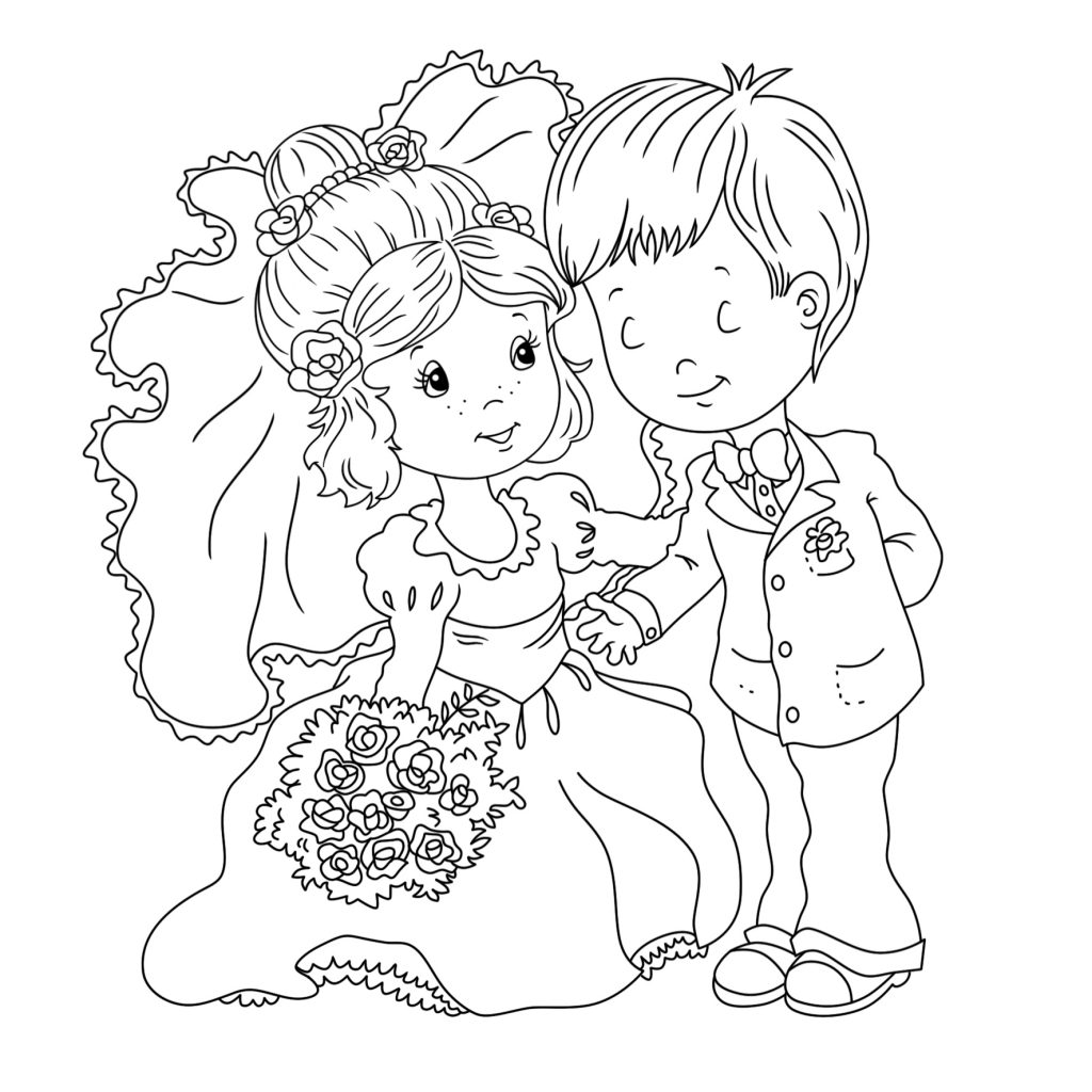 Printable Wedding Coloring Pages