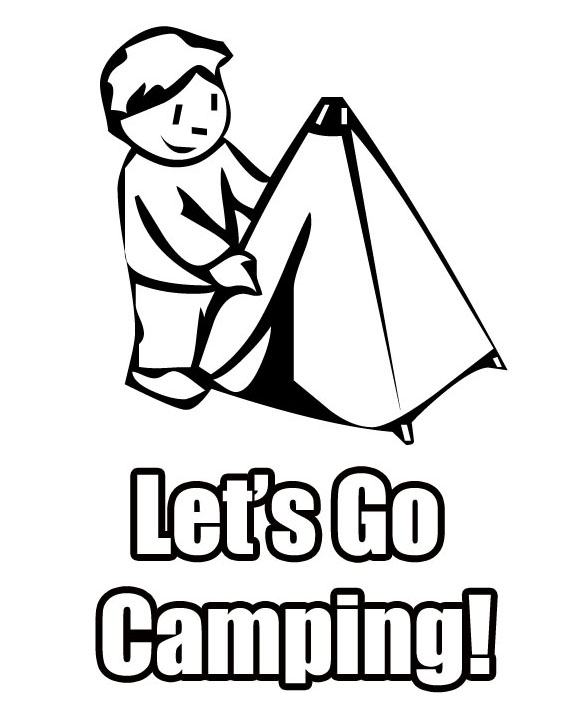 Putting up Tent Coloring Page