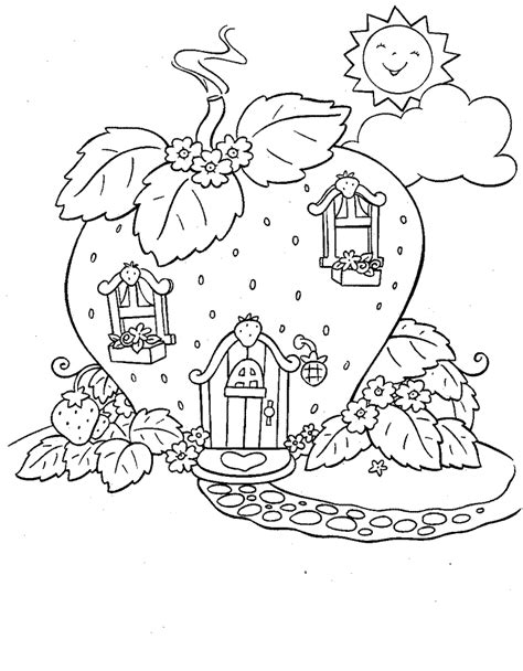 Strawberry House Coloring Pages