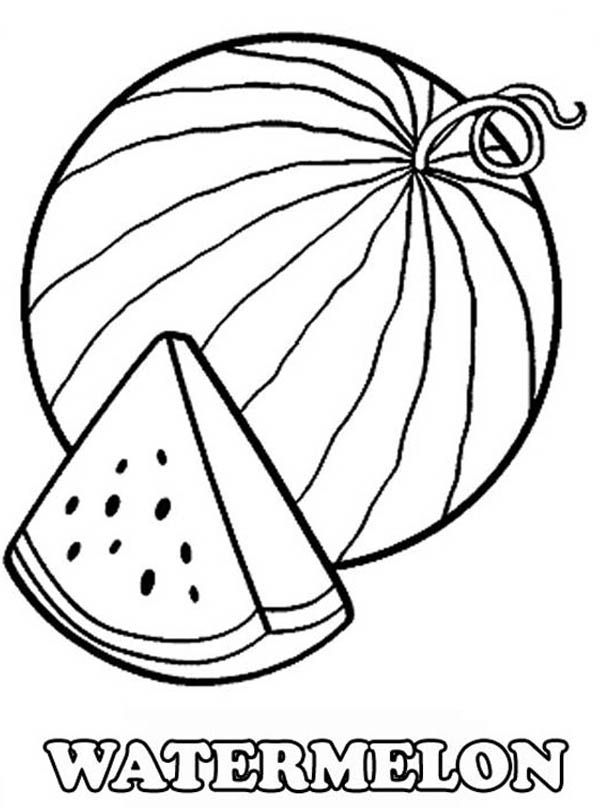 Watermelon Coloring Page Printable