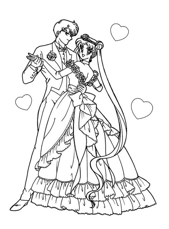 Wedding Anime Coloring Pages