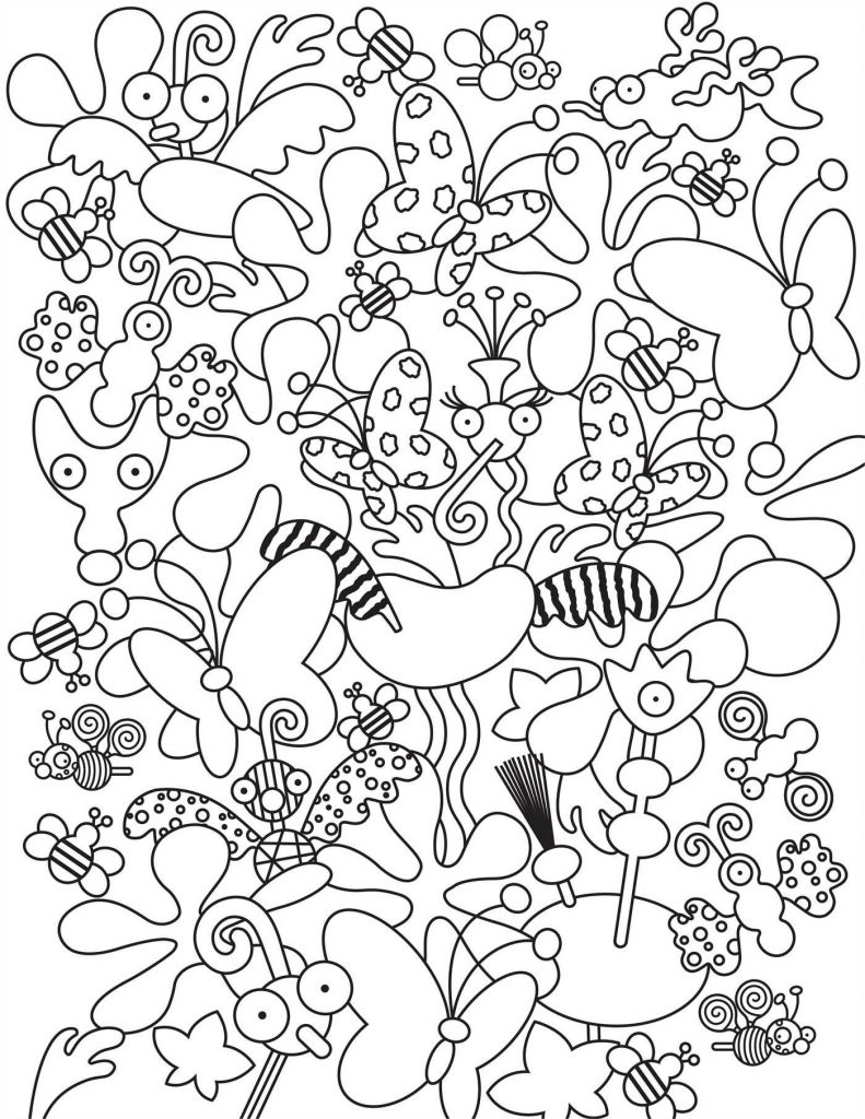Adult Doodle Coloring Pages