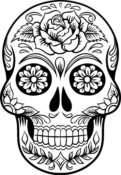 Adult Sugar Skull Coloring Pages