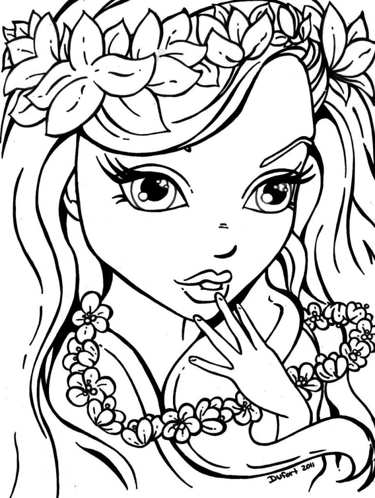 Beautiful Coloring Pages for Girls