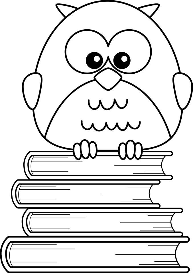 Book Smart Coloring Page