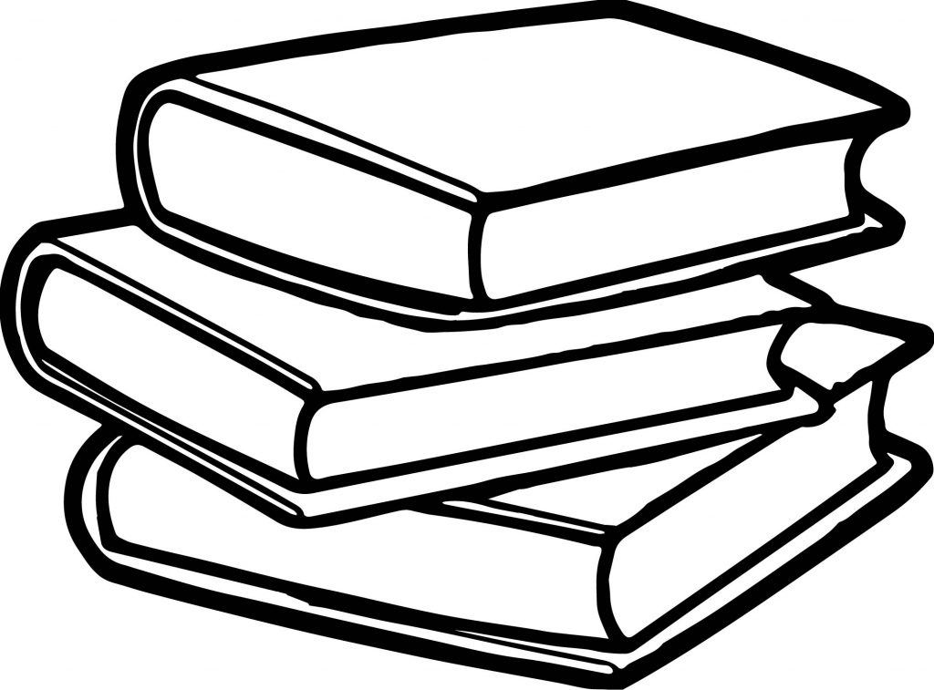 Books Coloring Page