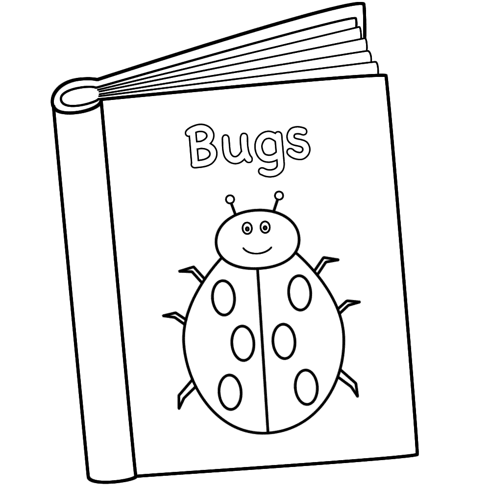 Bugs Book Coloring Page