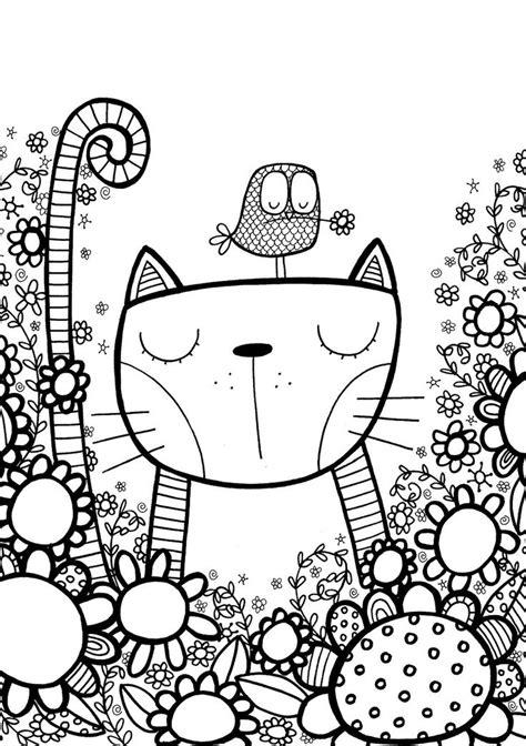 Cat Doodle Coloring Pages