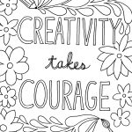 Creativity takes Courage Quote Coloring Page