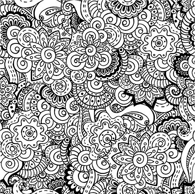 Detailed Doodle Coloring Pages for Adults