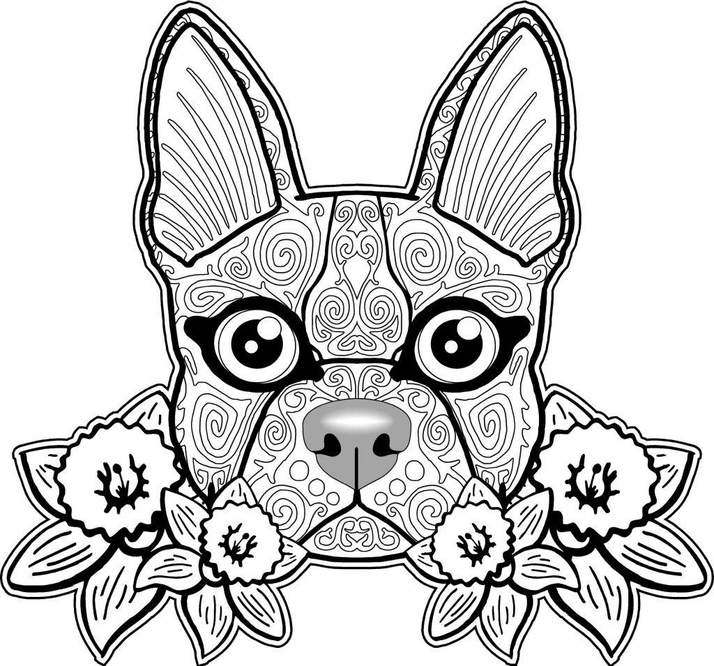 Dog Sugar Skull Coloring Pages