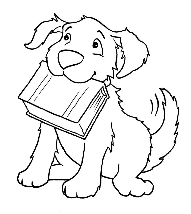 Dont Forget Your Book Coloring Page