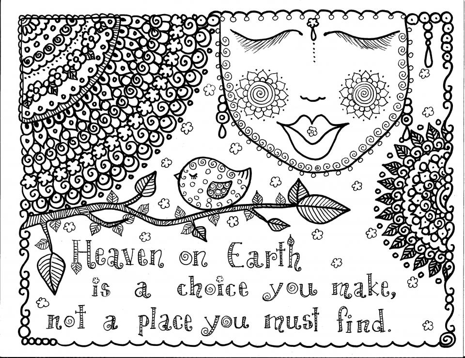Doodle Heaven Coloring Pages