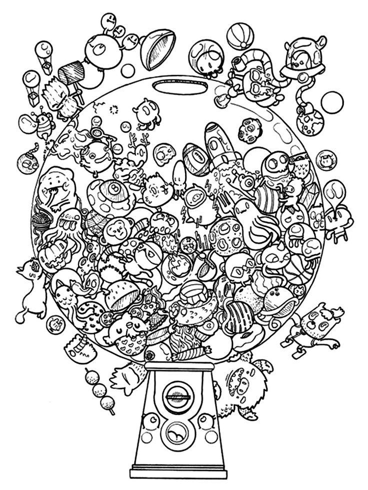 Doogle Gumballs Coloring Page