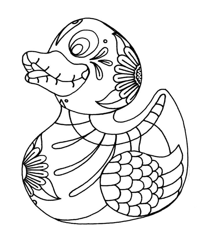 Duck Sugar Skull Coloring Pages