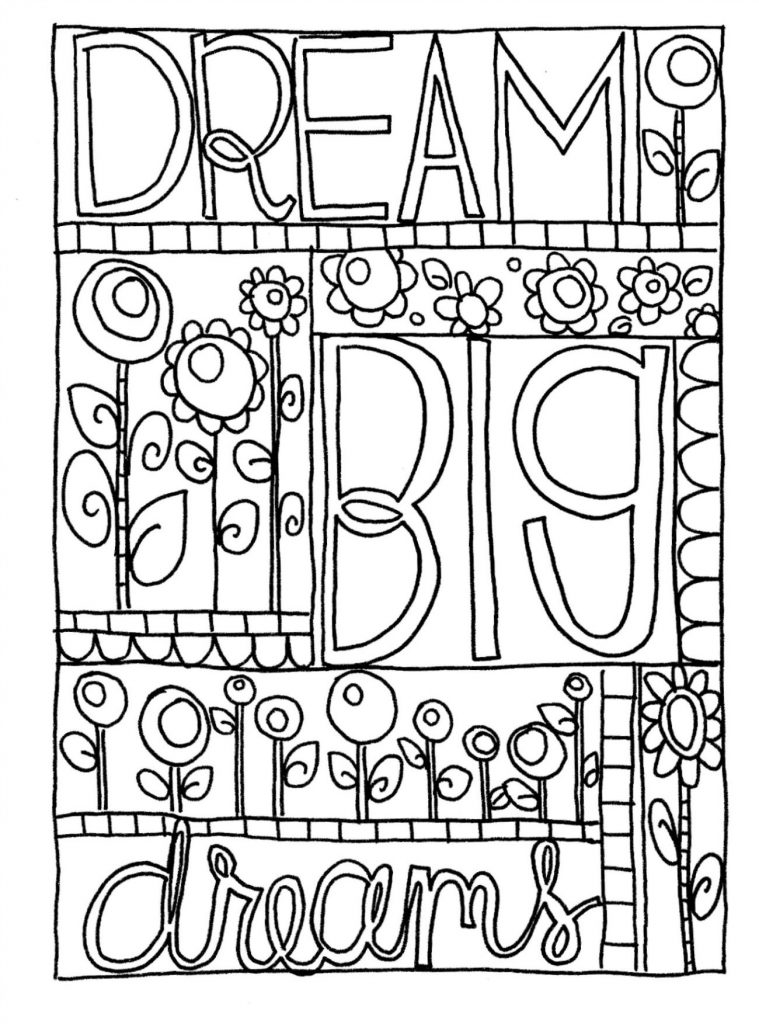 Free Doodle Coloring Page