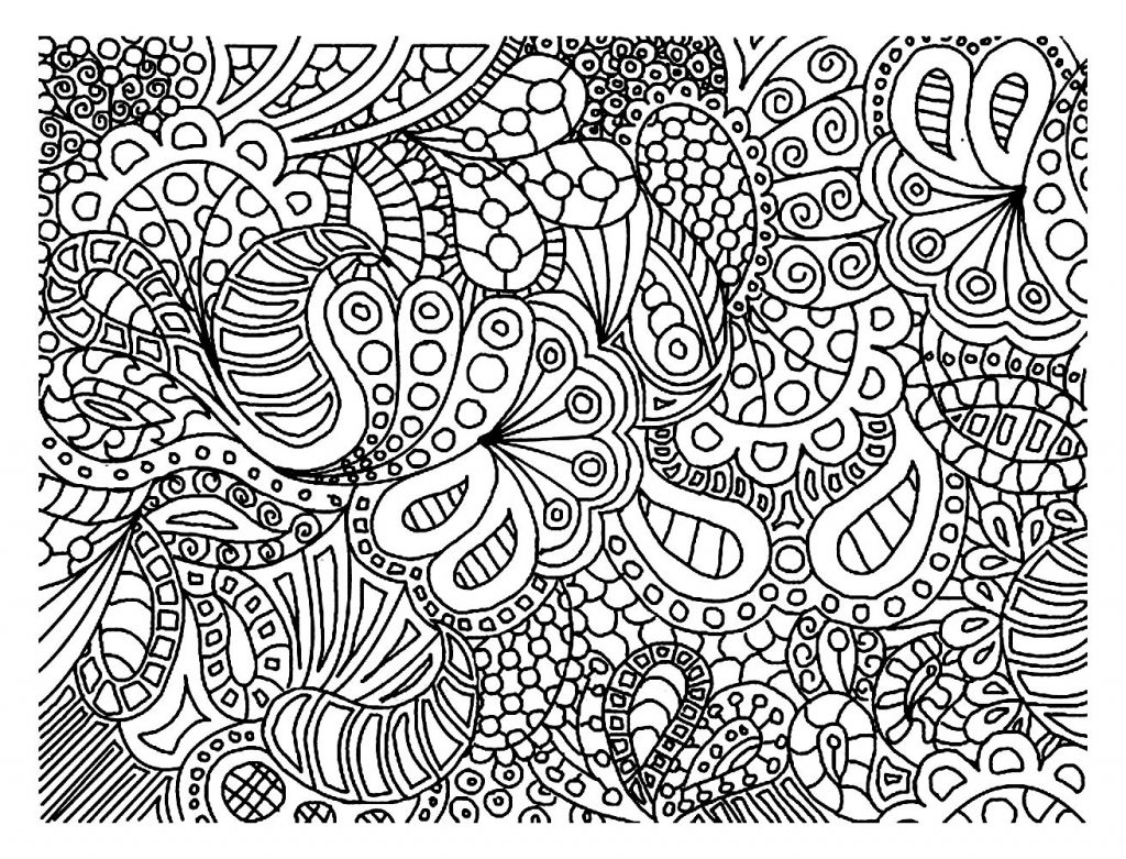 Hard Doodle Coloring Pages