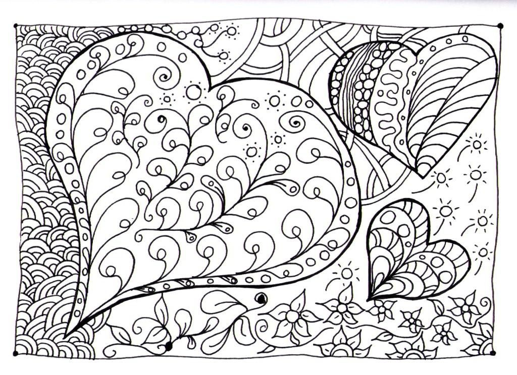 Heart Doodle Coloring Pages