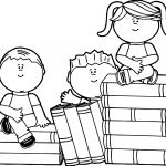 Kids Books Coloring Page