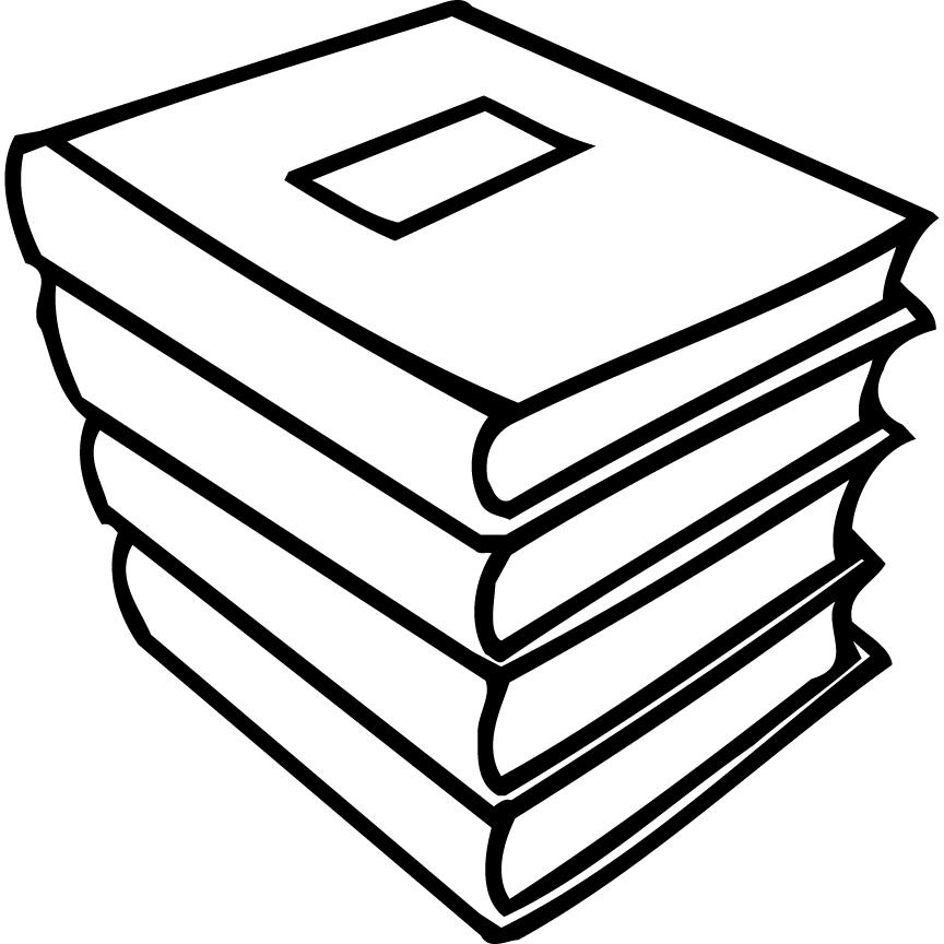 Stack of Books Coloring Page