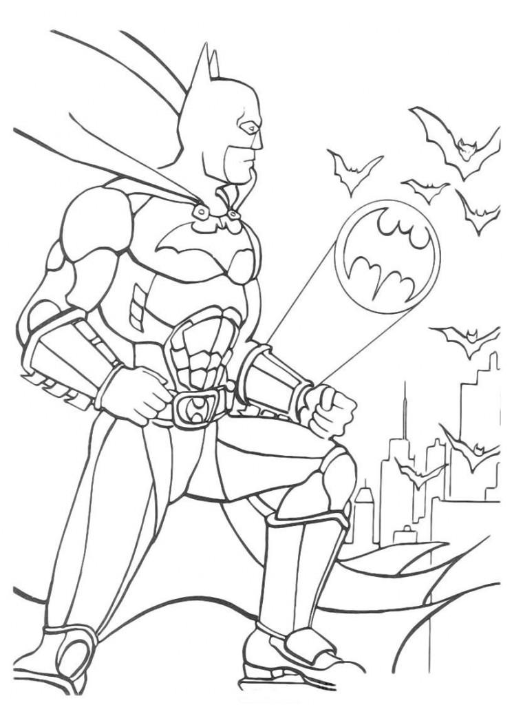 Batman Coloring Page 744x1024