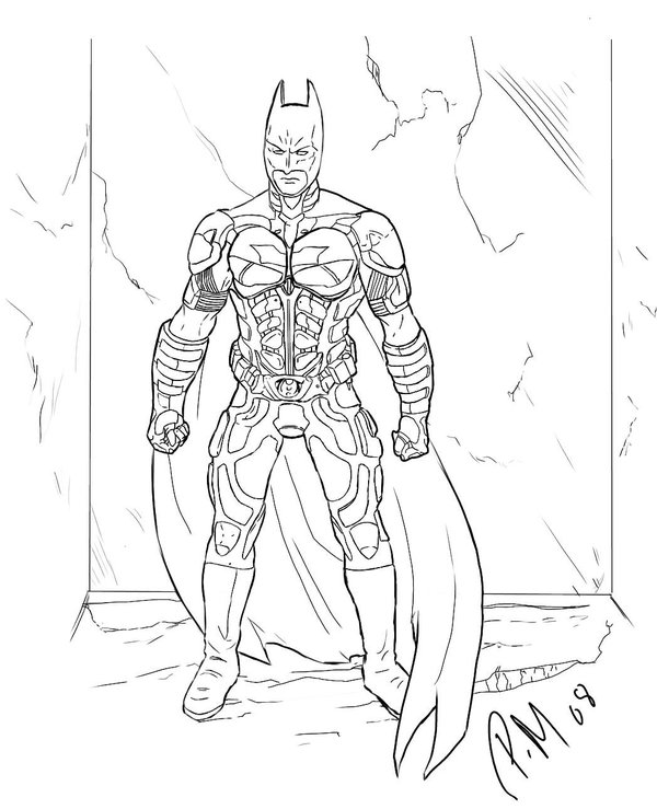 Batman Dark Knight Coloring Pages To Print