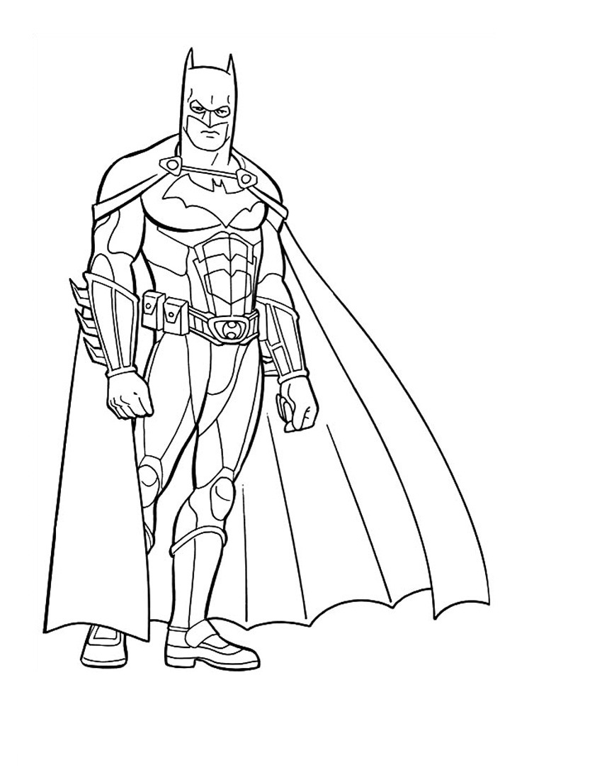 image about Free Printable Batman Coloring Pages named Cost-free Printable Batman Coloring Internet pages For Little ones